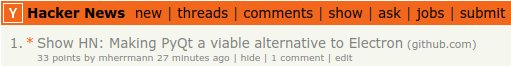 fbs in the first spot of the front page on Hacker News