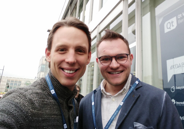 Qt World Summit Berlin 2018 - Michael Herrmann and an fman user