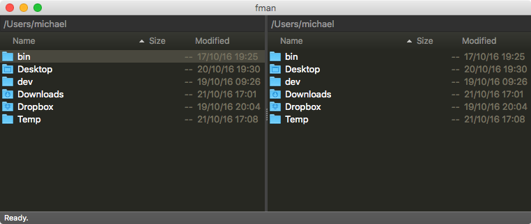 fman for Mac 0.3.8 Screen shot